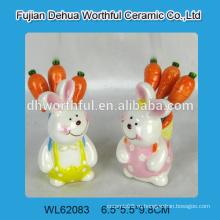 Симпатичные кролика формы керамические вилки фруктов набор для 2016 Пасха украшения партии