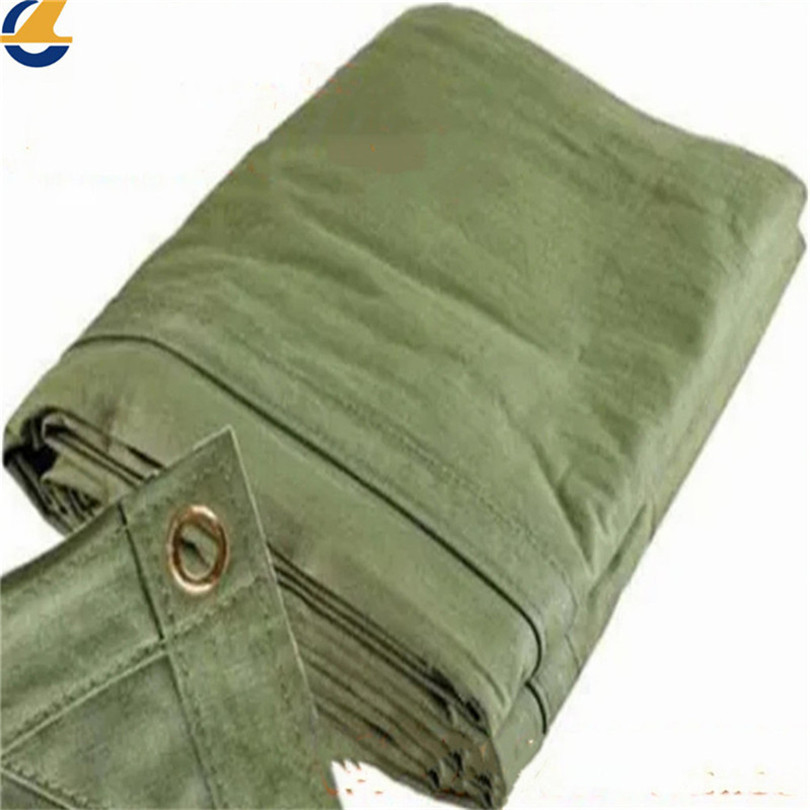 Green cotton tarps