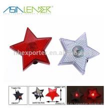 La forma de la estrella llevó la luz del estroboscópico de la seguridad