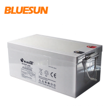 Bluesun tubular gel battery 12V 200Ah 250Ah front terminal rechargeable storage battery for solar UPS