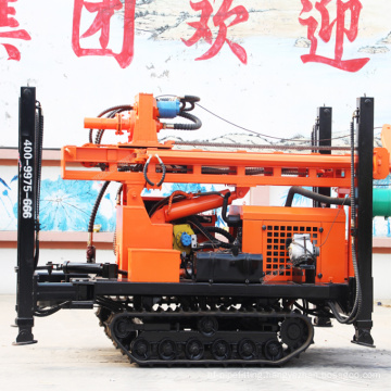 HQZ300L Air compressed DTH rock well drilling rig punching machine for hard rock
