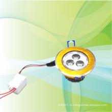 Новый продукт для 2014 золота привело утопленный светильник 3w квадратных круглой формы