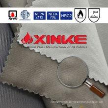 tela alta da prova de fogo da permeabilidade para a jaqueta vermelha reflexiva da segurança