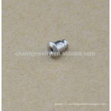 BXG036 Accesorios de alta calidad de la joyería del acero inoxidable con los pendientes de la bala pendientes cuidado del oído / tapón de oído / riesgo de la oreja