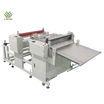 Rubber materials roll to sheet cutting machine