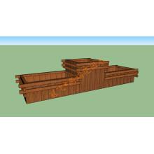 WPC Guardrail Holz Plastik Composite Leitplanke WPC Decking