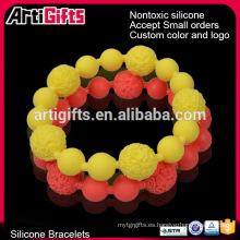 Pulseras hechas a mano de la amistad con cuentas anudadas a mano con patrones de perlas