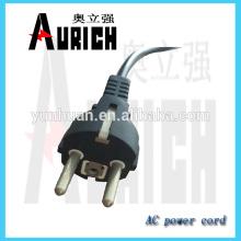 Faisceau de câbles UE certificat PVC treuil câble cordon d'alimentation avec 250V