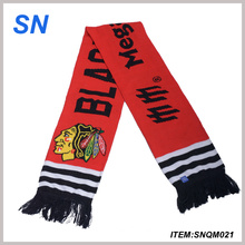 2015 China OEM Fashion Knitted Football Scarf