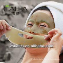 Gesichtsmaske des grünen Gesichts des Kollagenkristalls