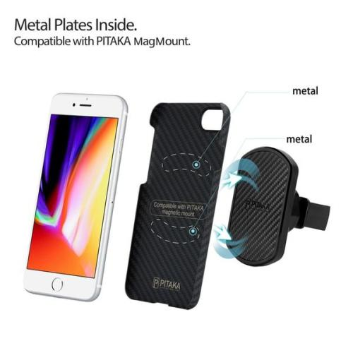 Ultra Silm iPhone8 Plus Aramid Fibra MagCase