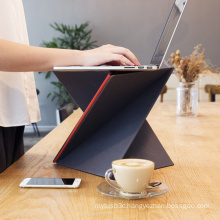 S-Sized Flat Folding Standing Desk Support with a Twist for Laptop PC Notebook Computer