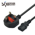 SIPU stranded copper round pin ac plug uk 3 core power cable for PC