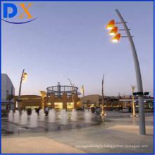 2018 Popular Steel Solar Hot DIP Galvanized Street Lighting Pole and Outdoor Lamp Post Design