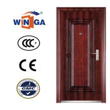 Nigera Stil Beliebte Sicherheit Eisen Metall Außen Stahl Tür (WS-127)