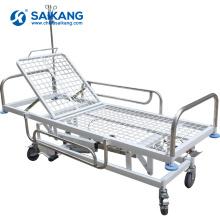 SKB038-3 из нержавеющей стали медицинская транспортировочная тележка с роликами
