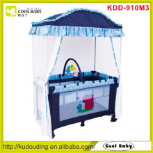 Factory Wholesale Baby Playpen with Mosquito Net toy bar with 3 toys