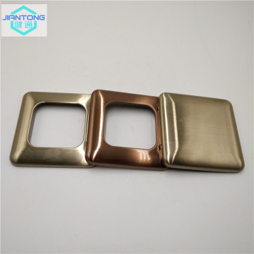 warna dicat stainless steel disikat saklar panel plat