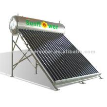 Compact Chauffe-eau solaire à pression en acier inoxydable à pression