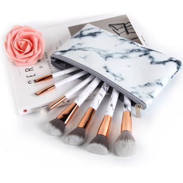 Ensemble de pinceaux de maquillage en or blanc 2020 New Marble