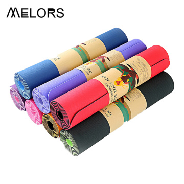 Melors 6mm Diseño plegable Pilates Eco friendly Tpe Caucho natural Eco China Ecológica Rosa Yoga Mat