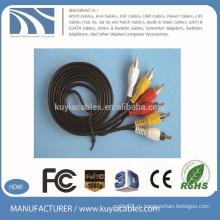 Кабель высокого качества 3 RCA к 3 RCA AV Позолоченные для DVD, TV, STB