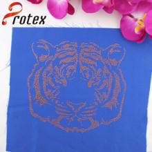 Fabricants en gros Gold Tiger Hotfix Strass Motive Design pour une chemise de haute qualité, Texans Custom T-Shirt