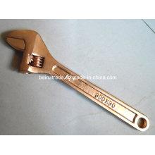 Anti Spark Schnell einstellbarer Schraubenschlüssel Spark Free Messing verstellbarer Schraubenschlüssel