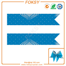 Triangle rhinestone hot fix cheer bow strip transfers