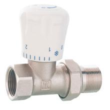 J3002 Messing Straight Radiator Ventil mit vernickelt / Steuerventil