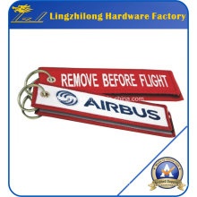 Embroidery Remove Before Flight Keychain