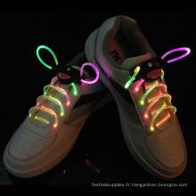 couleurs changeantes lacets clignotants décorés