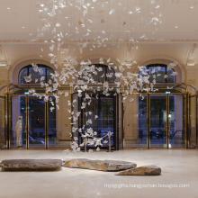 Modern romantic design Big hotel crystal chandelier lighting