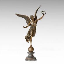 Mythology Statue Garland Angle Myth Bronze Sculpture TPE-143
