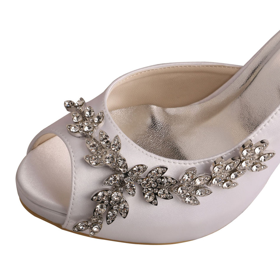 open toe wedding shoes