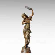 Bailarina Figura Estatua Gitana Señora Escultura De Bronce TPE-259