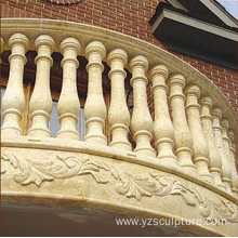 Balcony Decoration Nature White Stone Balustrade