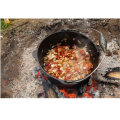 Pre-Seasoned Cast Iron Camping Dutch Oven with Three Legs