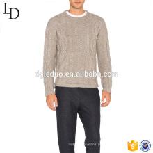 Suéter de cashmere Jacquard Design masculino com logotipo personalizado