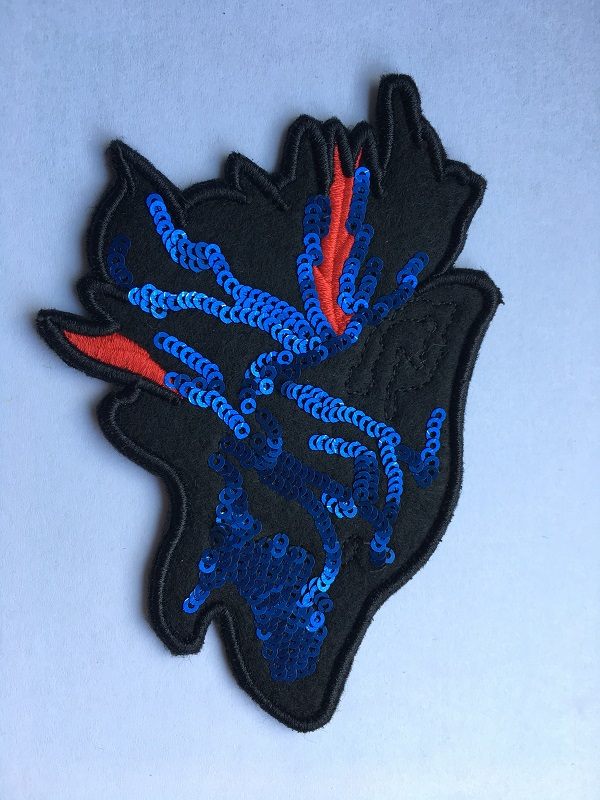 Direwolf Embroidery Patches