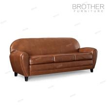 Modern living room office sofa furniture 3 seater genuine leather sofa set
