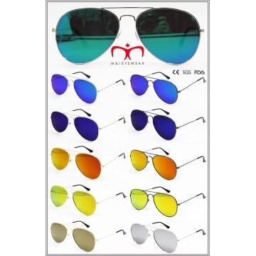 2016 nuevas gafas de sol del metal con la lente plana (MI160223)