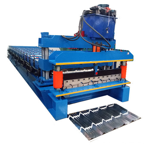 Aluminium Langkah Tile Roof Roll Forming Machine