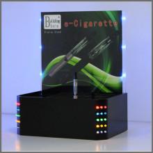 Support d'affichage à cigarettes en acrylique noir avec éclairage LED