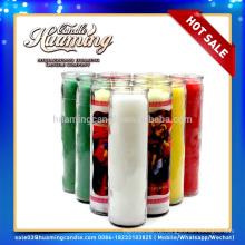 Huaming 7 дней свечи оптовой экспортеров / 7 дней ароматические свечи в стеклянной банке