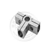 raccords tubulaires chromés solides de 25 mm