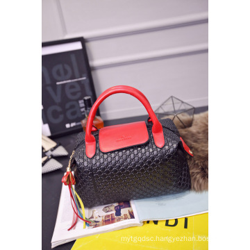 PU Leather Woven Handbags for Lady