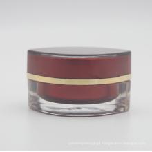 Empty cosmetic square glossy cream airless jar 30g