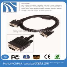 Câble de monture SVGA / VGA plaqué or Premium avec ferrites 15 pieds