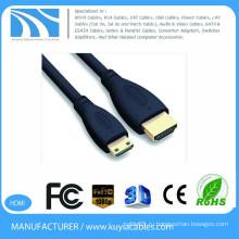 1,5 м HDMI 1,4 для мини-HDMI-кабеля 5 футов 1080P HD TV Video Out Кабель